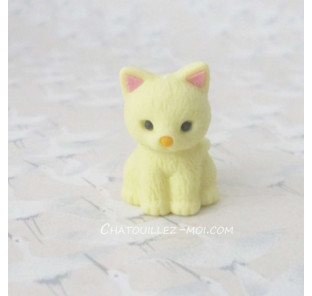 Gomme chat jaune