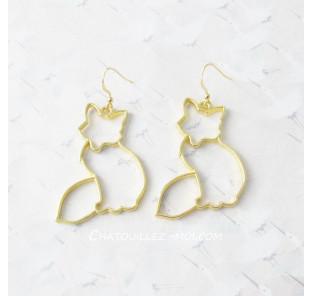 Boucles d'oreilles renard doré