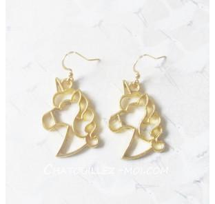 Boucles d'oreilles licorne...
