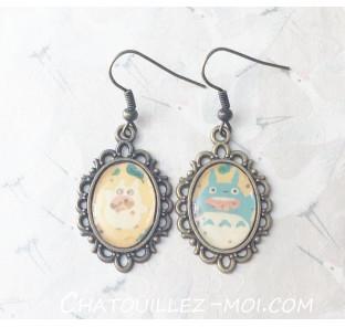 Boucles d'oreilles Totoro...