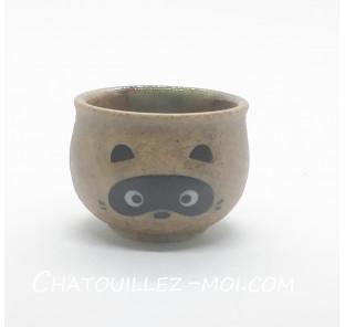 Coupe de saké tanuki