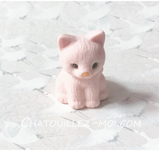 Gomme chat rose