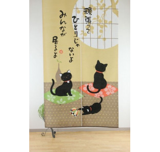 Noren chats noirs