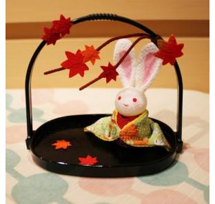 Lapin  d'automne en kimono