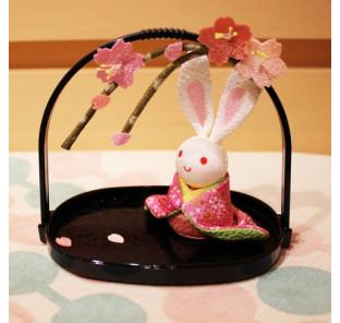Lapin sakura en kimono
