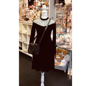 Robe noire en velours /TL/TXL