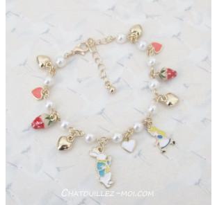 Bracelet Alice et le lapin...