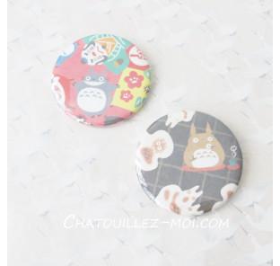 2 Badges Totoro, mon voisin...