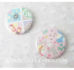 2 Badges Mei et Totoro,...
