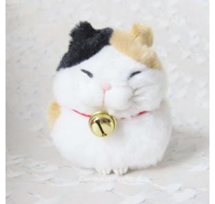 Peluche chat japonais blanc