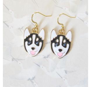 Boucles d'oreilles husky