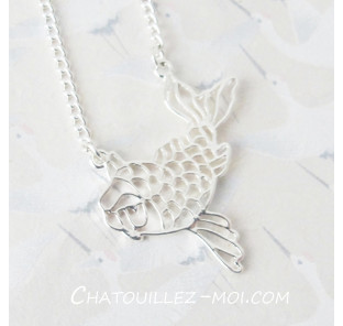 Collier carpe koi origami