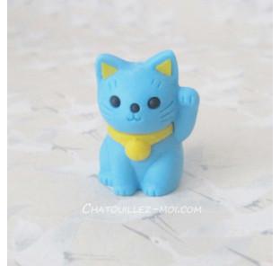 Gomme chat bleu, maneki neko