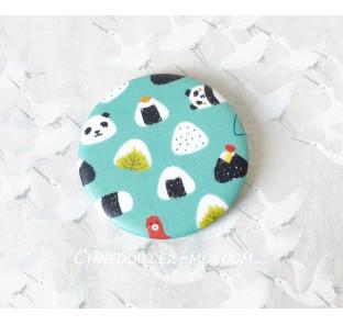 Badge Panda onigiri