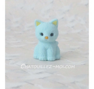 Gomme chat bleu